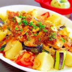 めちゃウマ★白身魚とカラフル野菜のごちそうグリル