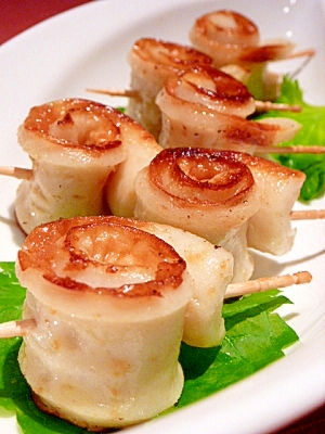 お弁当に☆ちくわのぐるぐる◎味噌バター焼き レシピ・作り方 by まめもにお|楽天レシピ