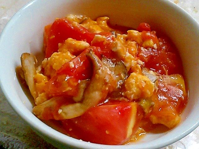 あわびたけの中華風トマト炒め
