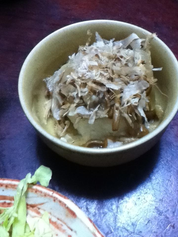 千切り菊芋&生姜入り、なめこおろし。