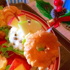 フレンチクルーラーde二つの林檎のポテサラサンド