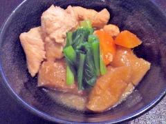 煮汁がじゅわ~っ★「凍み大根」と鶏肉の煮物