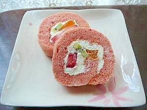 ★簡単♪米粉で苺練乳ロールケーキ★