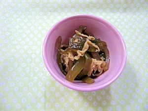 茎わかめと湯葉の佃煮