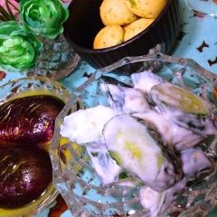 胡瓜の塩レモンごまヨーグルトサラダ