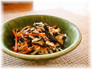 切干大根とひじきのサラダ ゆず胡椒風味
