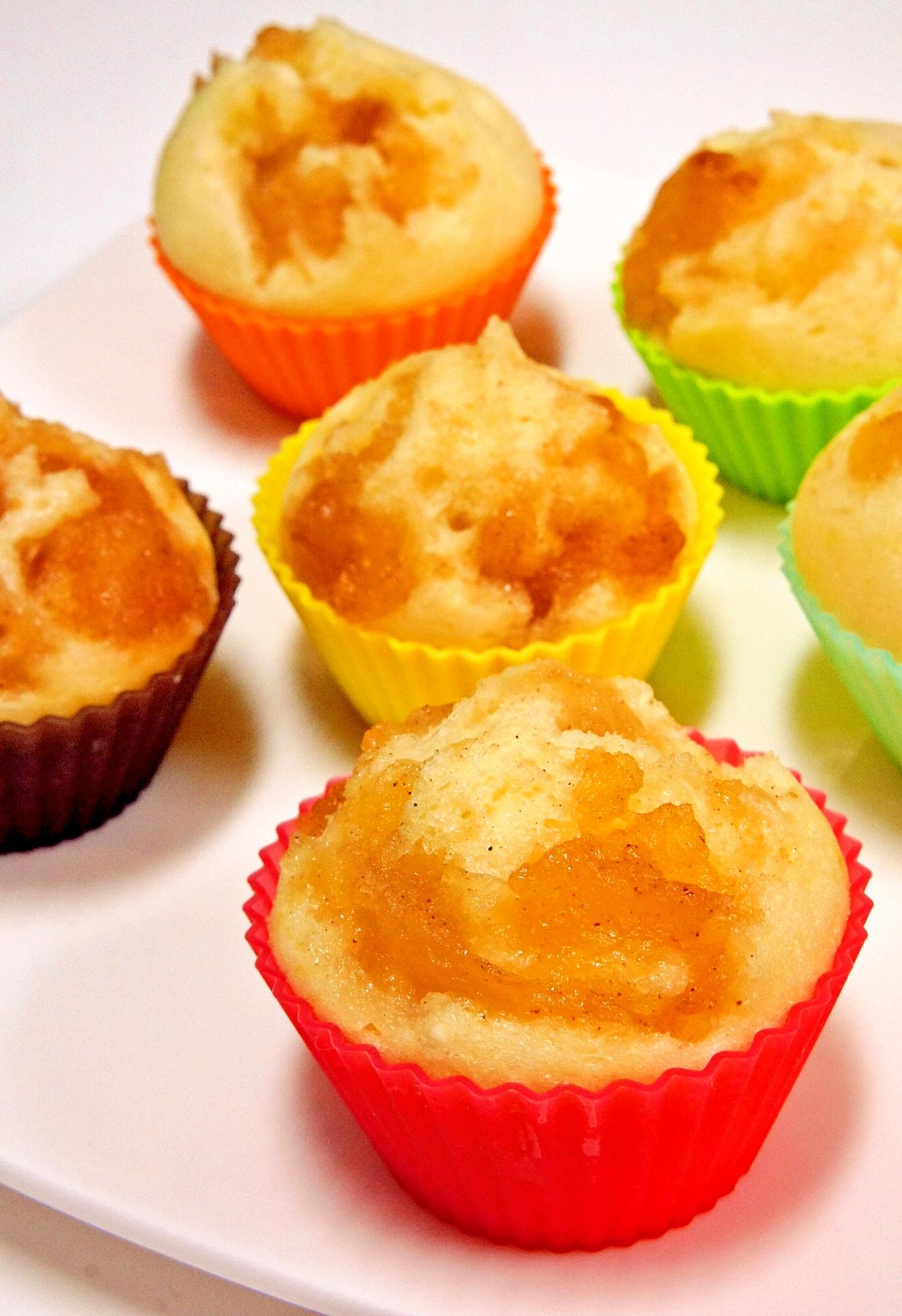 ふんわり♪はちみつりんごの米粉蒸しパン レシピ・作り方 by すたーびんぐ|楽天レシピ