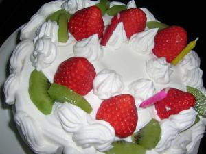 お誕生日いちごショートケーキ♪