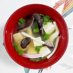 ひらたけとお豆腐のお味噌汁