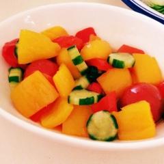 自然の甘さが美味しい!彩り鮮やかパプリカのマリネ