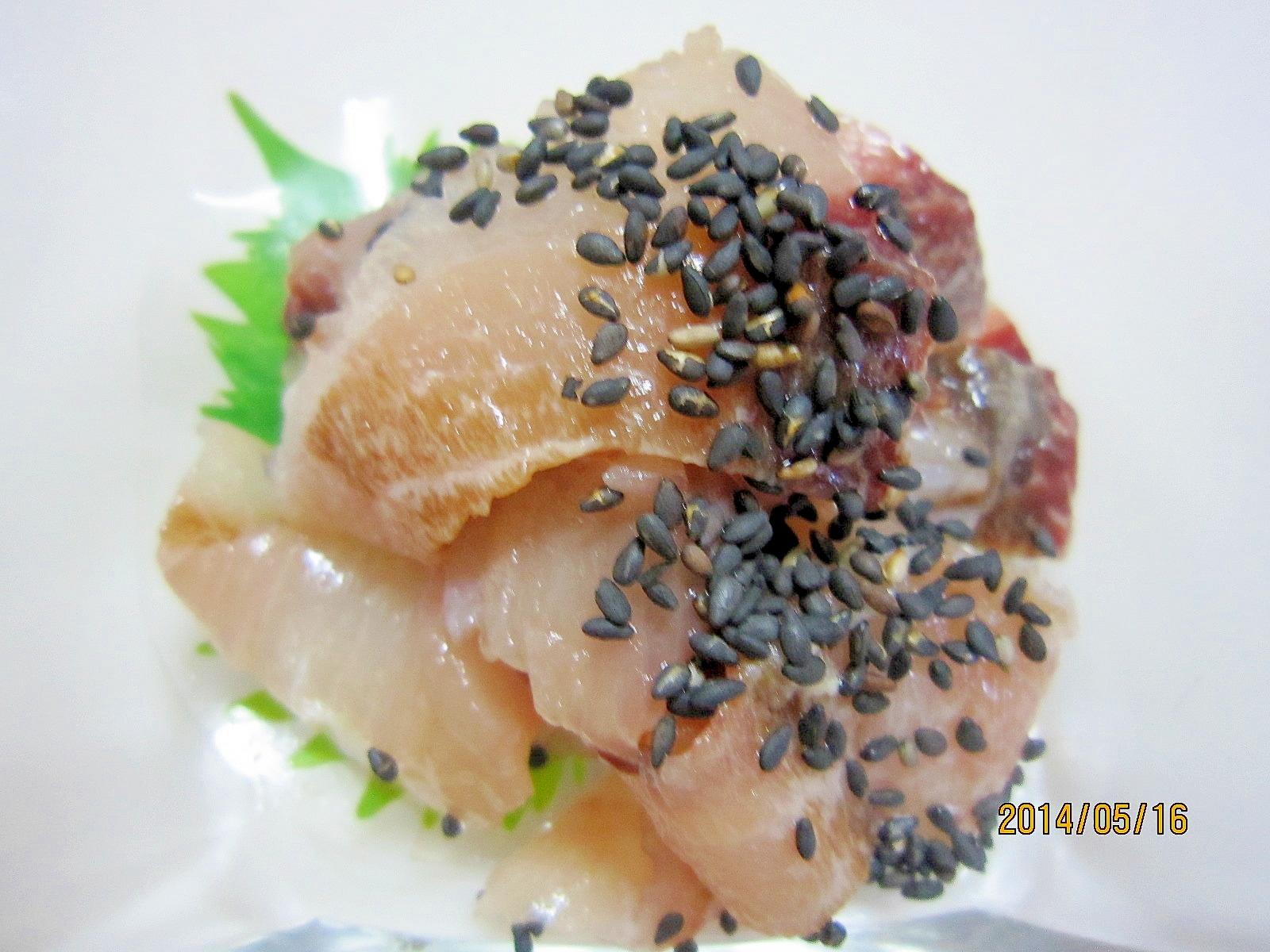 節約節約お魚1匹使いきり ワンコイン塩刺身