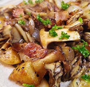 素材で食べる、じゃがいもきのこベーコン炒め レシピ・作り方 by leopoo|楽天レシピ