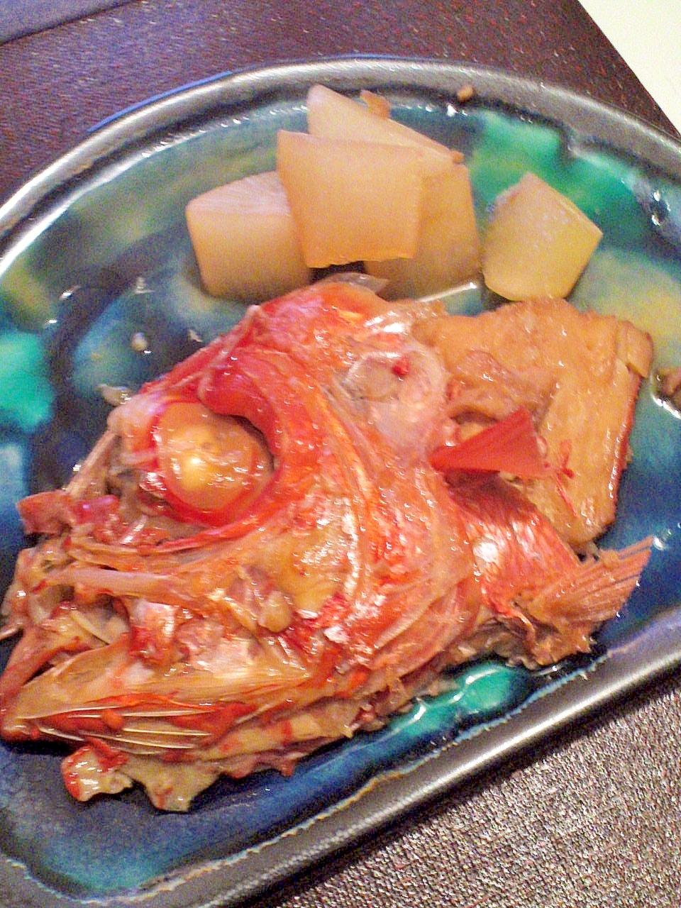 水を使わずふっくら♪ご飯が進む 金目鯛のあら煮