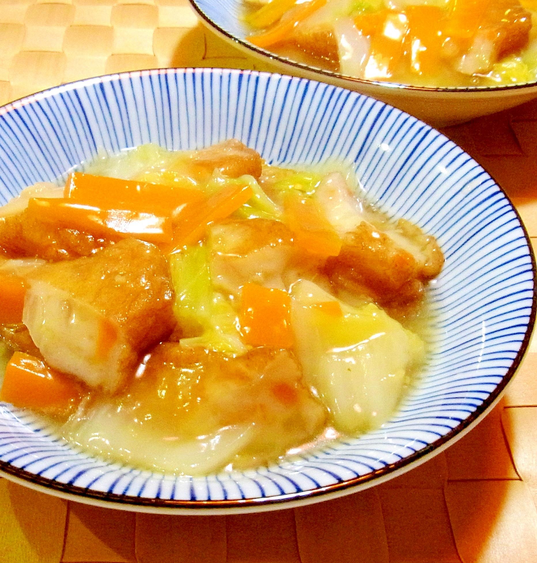 白菜とさつま揚げの中華あん煮