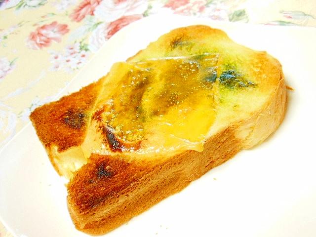 チェダーと青汁のAジンジャーシュガートースト