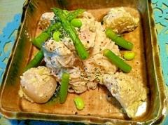 ゴロゴロ蕪とマッシュルームの冷たいずんだ素麺