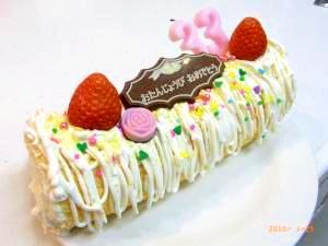 ロールケーキ!誕生日バージョン