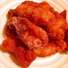 塩麹と三升漬のちょっピリ辛!鶏もも肉の竜田揚げ