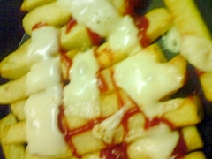 冷凍ポテトのピザ風