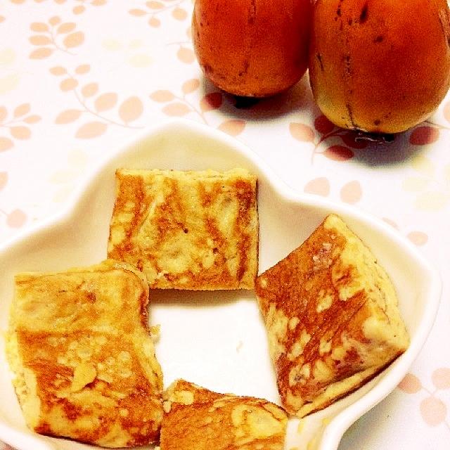砂糖不要の柿入り卵焼き