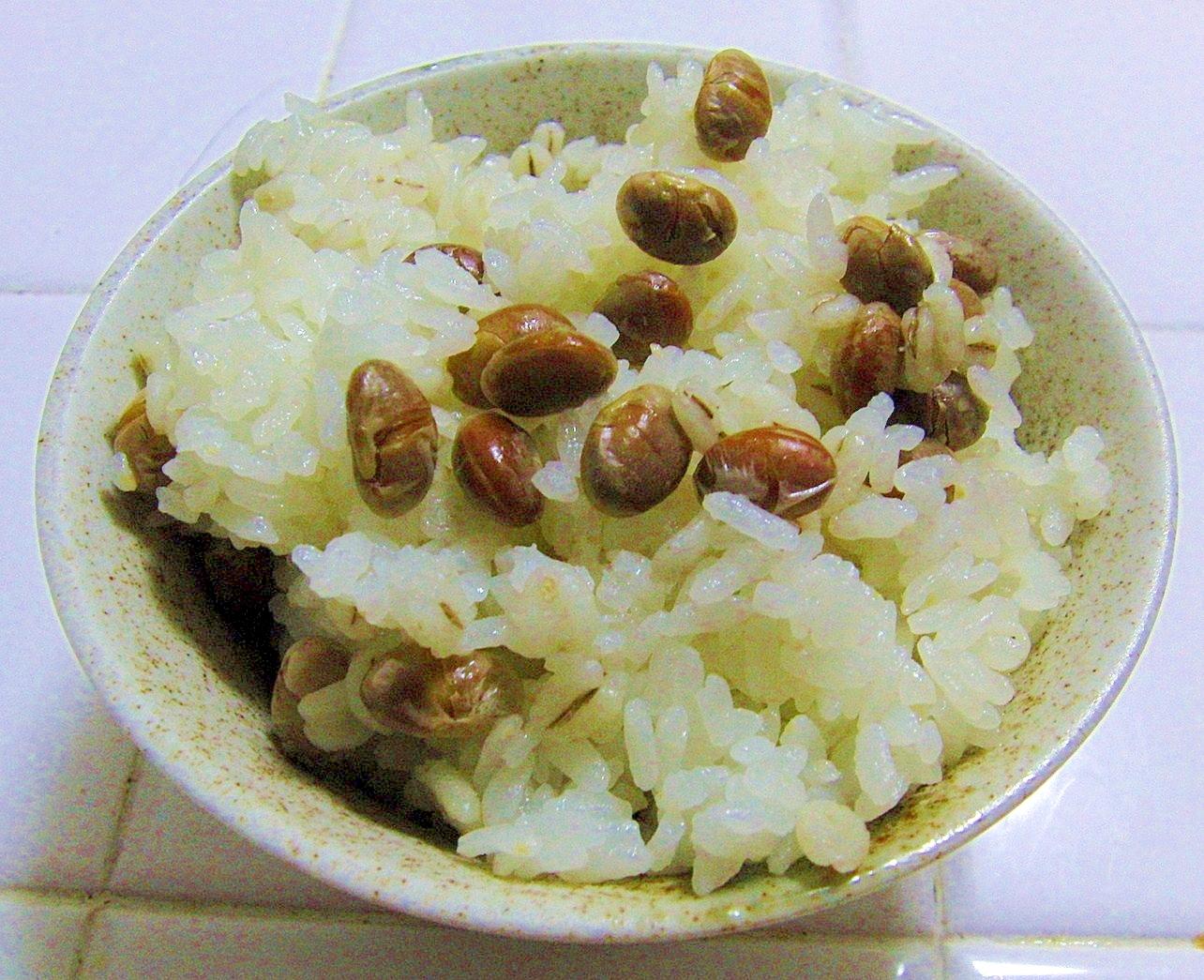 節分の煎り豆で~♪超簡単にできる豆ご飯