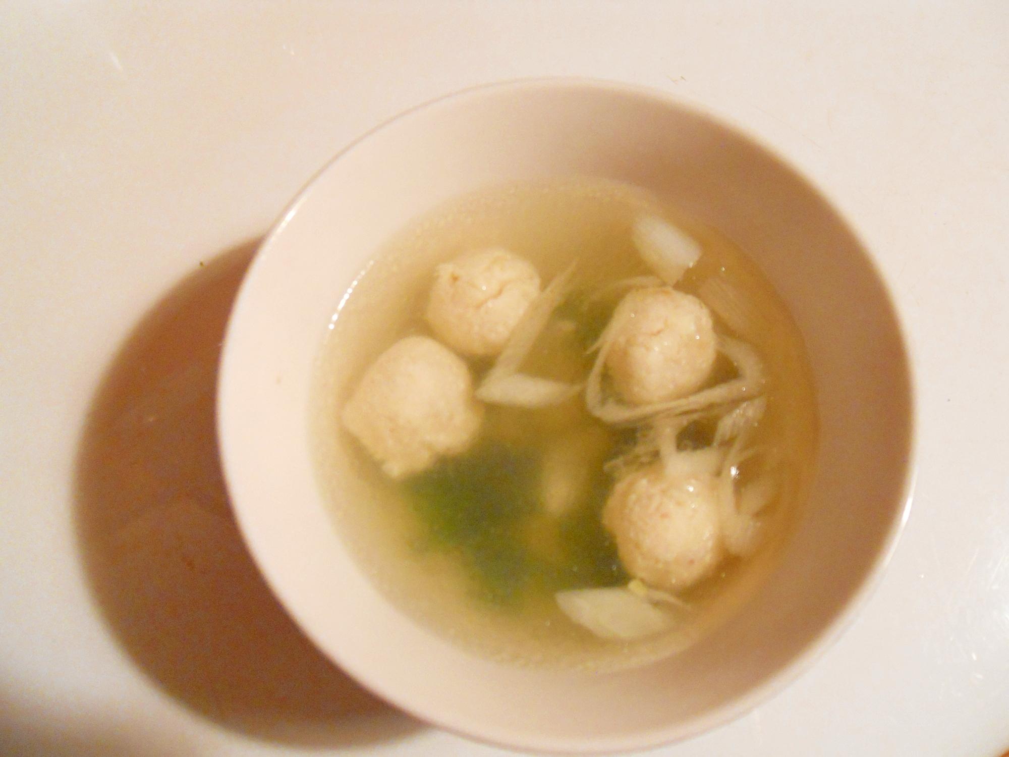 ウェイパーで☆おから団子入り♪ ヘルシー中華スープ