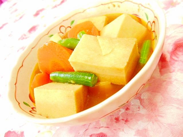 リメイク高野豆腐とカレーと小松菜のスープ