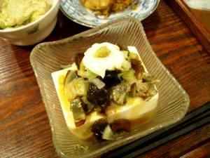 ピータン豆腐はマヨわさび