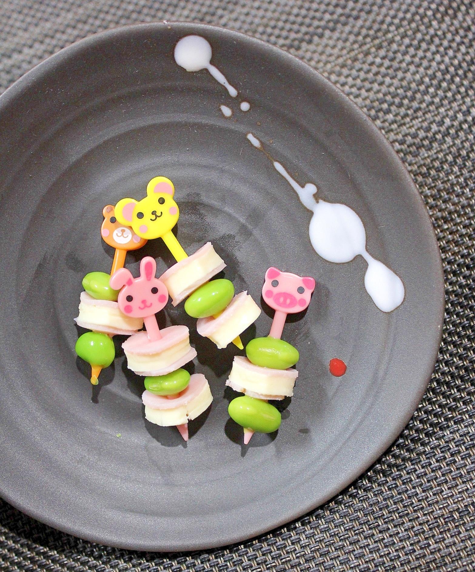 キャラ弁☆枝豆ハムチーズ☆春色お弁当おかず♪