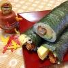 とんかつ★巻き寿司(受験に勝巻き)