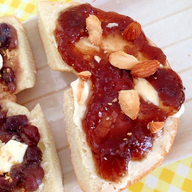 イチジクジャムとクリームチーズのベーグル♡ レシピ・作り方 by はなはなりんご|楽天レシピ