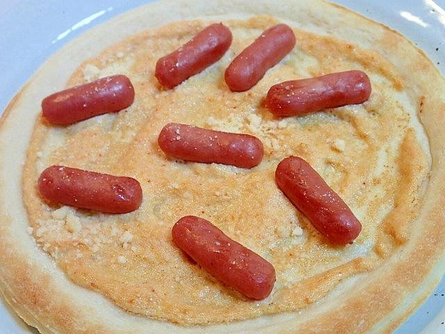 明太子マヨネーズとミルトポゥのピザ