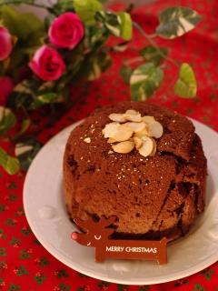 クリスマスの簡単☆濃厚ガナッシュチョコケーキ♪