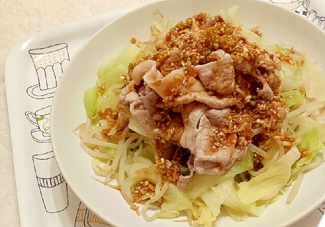 キャベツもやしの豚しゃぶサラダ レシピ・作り方 by ちゃんこさーん|楽天レシピ