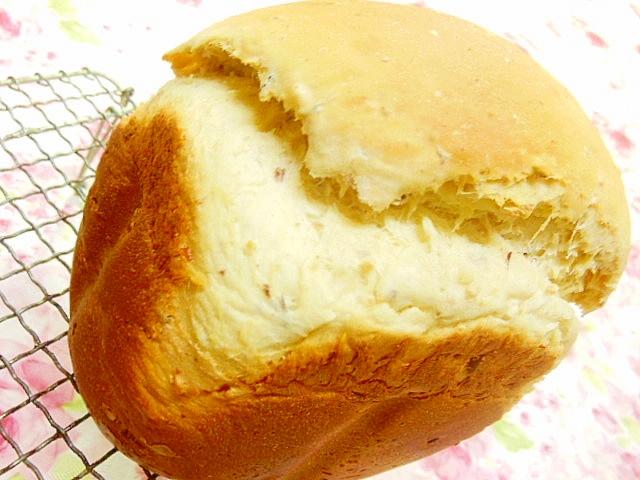 蒸し金時豆とWココナッツの食パン