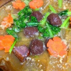 冬瓜と燻製鴨のたかきび団子鍋