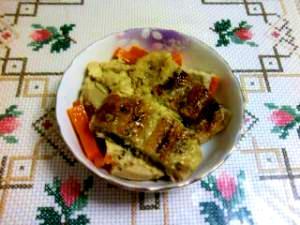 簡単☆高野豆腐とウナギの卵とじ
