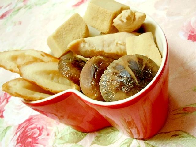 どんこ&鶏ささみ&高野豆腐&竹輪の煮物