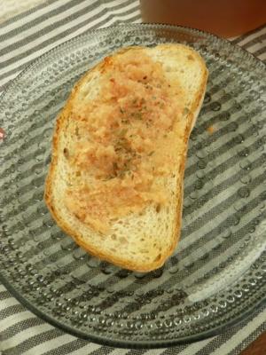 フランスパンで たらこフランス