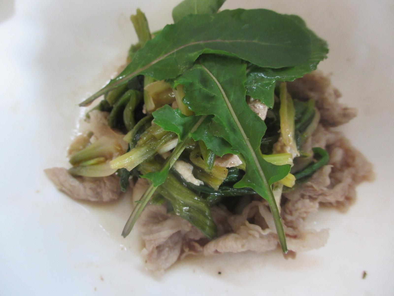 豚肉とほうれん草のバルサミコ炒め