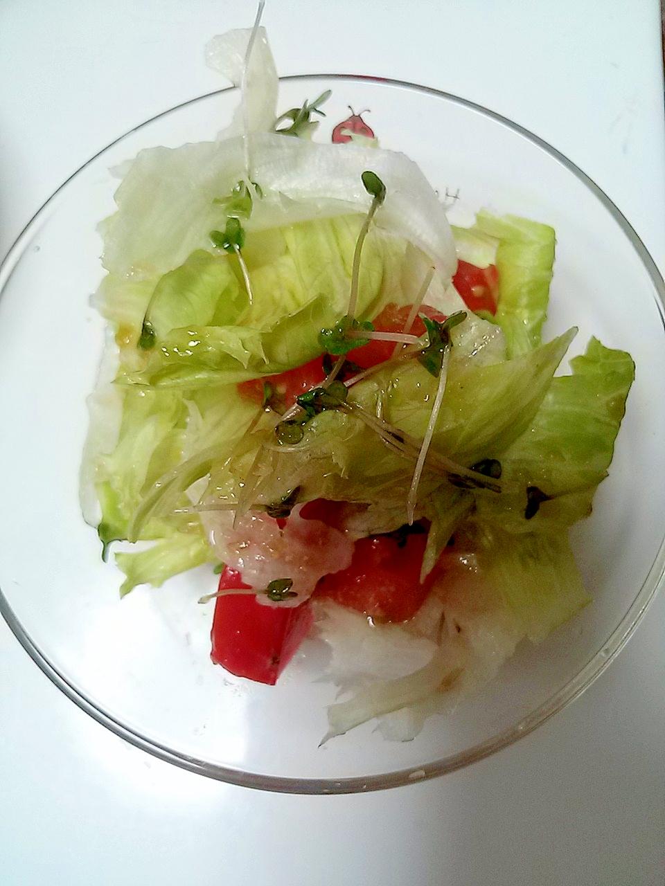 ブロッコリースプラウト☆レタス☆トマトサラダ