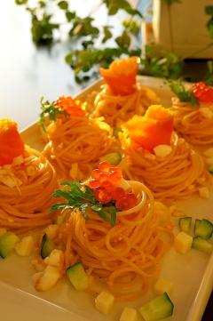おもてなしの前菜に♪ごちそうサラダスパゲティ