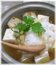 """ひとり鍋""""豆腐と大根おろしのみぞれ鍋"""""""