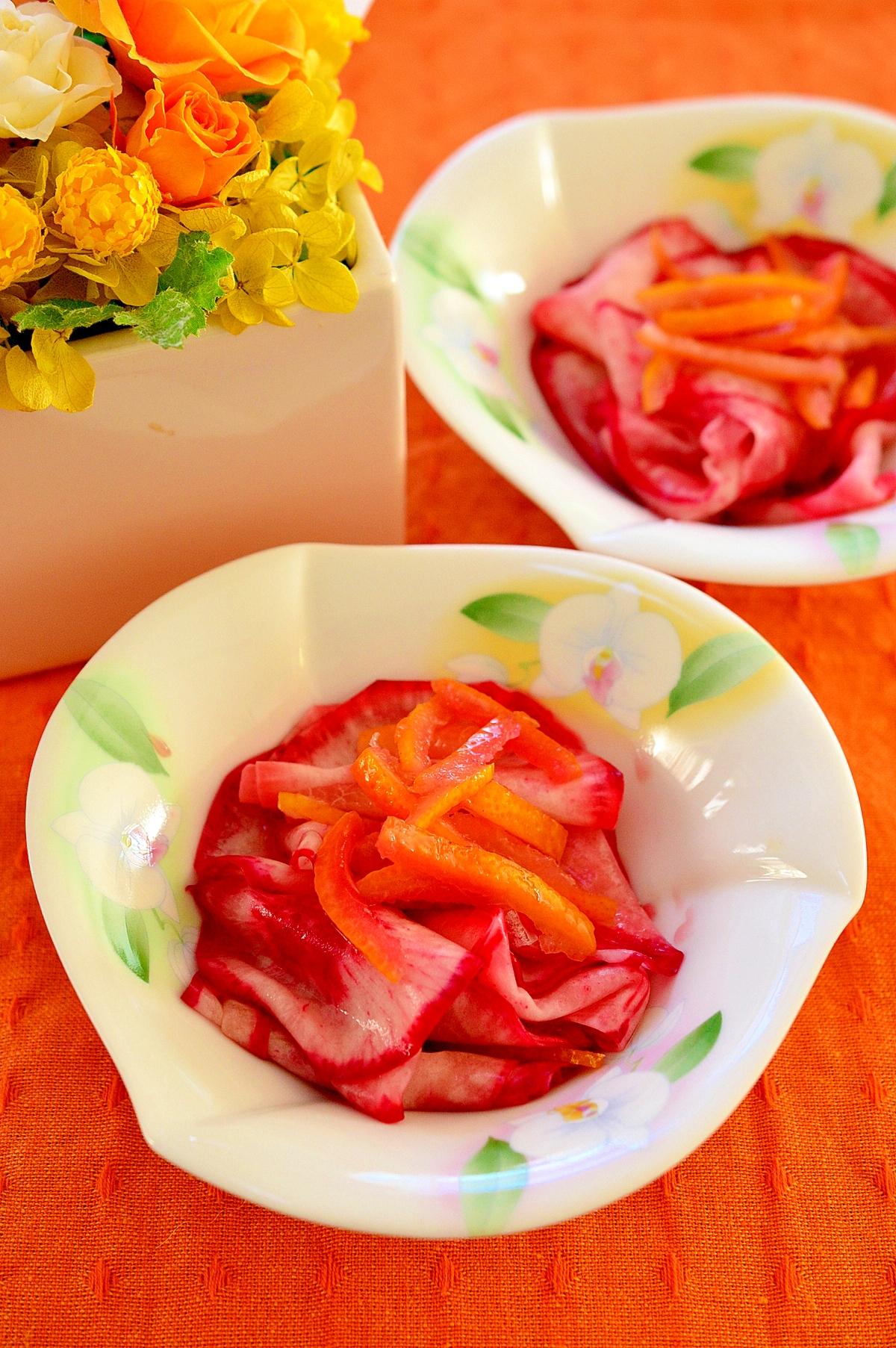 果汁も入れて香り良い☆かぶの柚子漬け