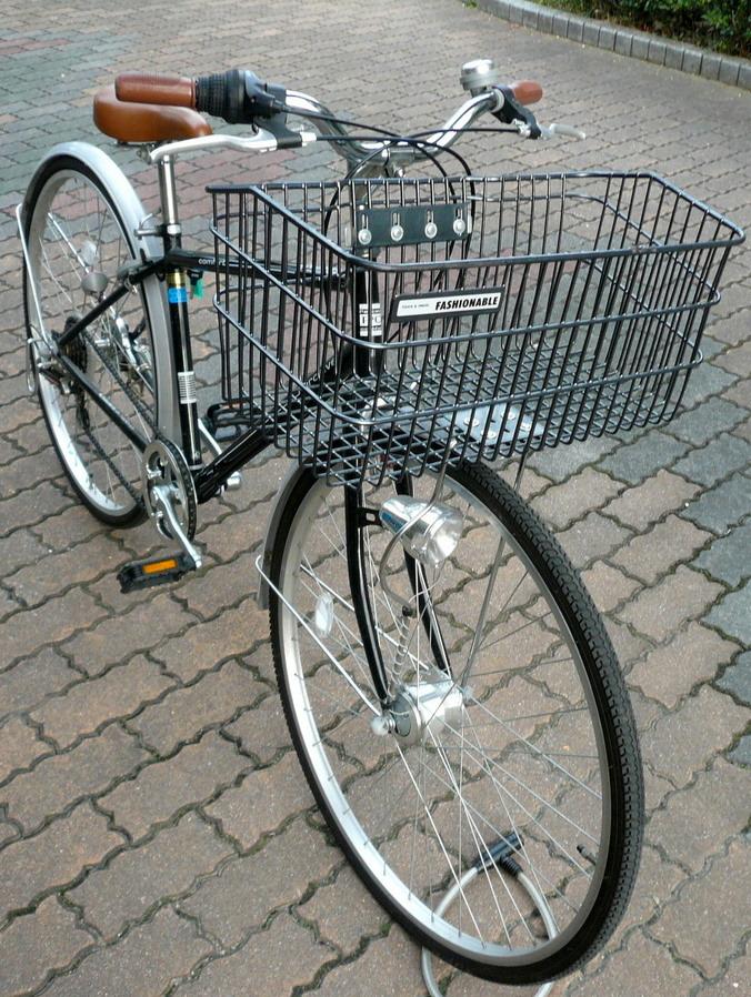 自転車の 自転車 前かご 取り付け方 : ]自転車かご 超ワイドな自転車 ...
