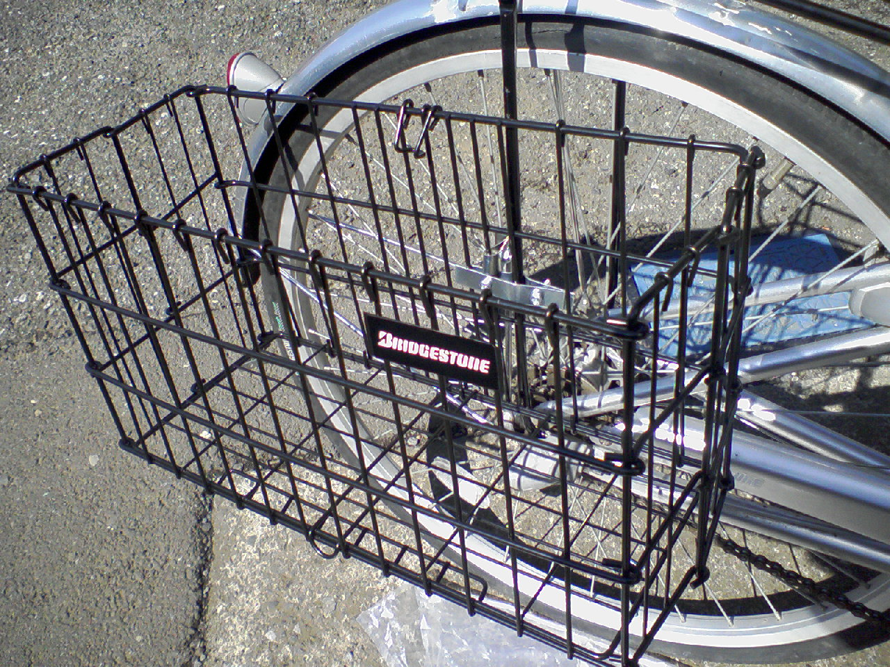 自転車の 自転車 カゴ 折りたたみ 後ろ : バスケット(後ろ籠・後ろカゴ ...