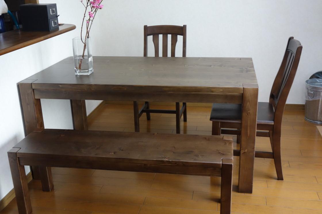 ダイニング 安いダイニングテーブル : 無垢材 ダイニングテーブル ...