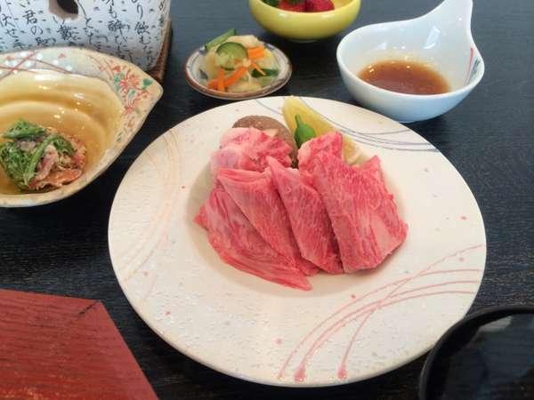 前沢牛陶板焼き定食