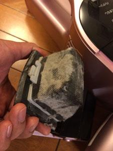 アイリスオーヤマの布団クリーナー 吸い取ったダスト