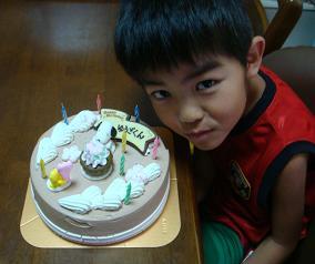 8歳バースディケーキ
